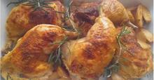 Κοτόπουλο με δεντρολίβανο