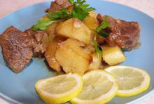 Μοσχάρι λεμονάτο με πατάτες - Συνταγές Μαγειρικής - Chefoulis