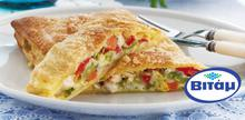 Συνταγή: Στρούντελ γεμιστό με κοτόπουλο,μανιτάρια, φρέσκα λαχανικά