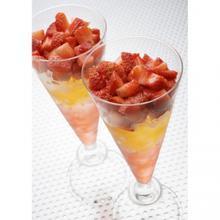 Εξωτικό κομφί με φράουλες, μανταρίνι και πορτοκάλι