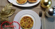 Τάρτες με cream cheese και μανιτάρια