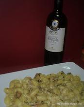 Potato gnocchi in drunk porcini sauce