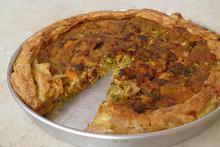 Πρασόπιτα ανοιχτή με σφολιάτα - Συνταγές Μαγειρικής - Chefoulis