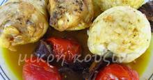 Κοπανάκια με ντοματίνια και μανιτάρια