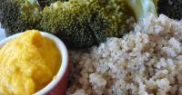 Κινόα με μπρόκολο και σως καρότο - τζίντζερ - Lovecooking.gr