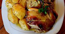 Κοτόπουλο με μέλι -πορτοκάλι-& γέμιση !!!