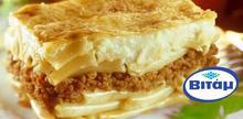 Συνταγή: Παστίτσιο με κιμά μοσχαρίσιο, μακαρόνια, κρεμμύδι, τυρί, φρυγανιά, βούτυρο, μοσχοκάρυδο, αλεύρι, γάλα