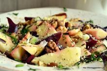 Σαλάτα με παντζάρι και μήλο- Beetroot apple salad