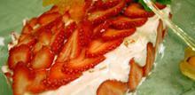 Συνταγή; Γλυκό με λευκή σοκολάτα, σαβουαγιάρ, φράουλες, κεράσια, νιφάδες ρυζιού, σαντυγί, μέντα, grand marnier