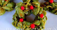 Χριστουγεννιάτικα στεφανάκια με κορν φλέικς και μάρσμάλλοους