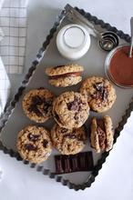 Μπισκότα βρώμης με σοκολάτα γεμιστά με σοκολατένιο βούτυρο αμυγδάλου - The one with all the tastes