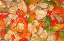 Χοιρινό με μουστάρδα και πιπεριές - Συνταγές Μαγειρικής - Chefoulis
