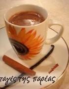 Ρόφημα ζεστής σοκολάτας με βανίλια και κανέλλα