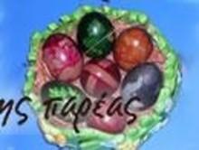 Βάψιμο αυγών με καλσόν
