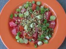 Φυτρα φακής σαλάτα