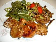 Ψαρονέφρι με καλοκαιρινά λαχανικά και βλίτα