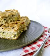 Traditional greek leek pie with home made phyllo  κλασική πρασόπιτα με σπιτικόφύλλο