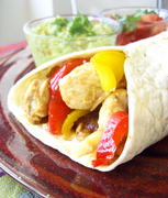 Chicken fajitas  φαχίτας μεκοτόπουλο