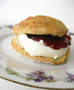 "Perfect scones for cook the books  ""eating for england"""