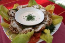 Φαλάφελ με σάλτσα ταχινιού