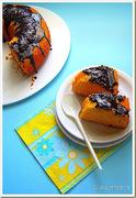Κέικ καρότο με γλάσο σοκολάτας