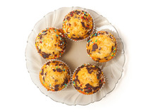 Muffins με ανανά  κομματάκια σοκολάτας και καρυδόψιχα
