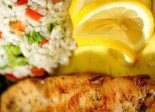 Φιλέτο κοτόπουλο με ρύζι  λεμόνι και μαϊντανό