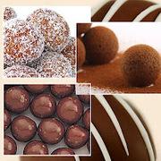 Εύκολα τρουφάκια σοκολάτας με ρούμι