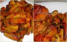 Μπάμιες λαδερές με ψητό κοτόπουλο γάστρας... δύο πιάτα που μπορούν να κάνουν παρέα ή και να σταθούν αξιοπρεπώς το καθένα μόνο του