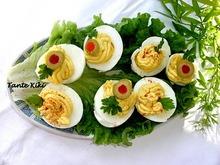 """Αυγά γεμιστά """"ντιαμπλέ""""   ένα υπέροχο ορεκτικό - ένας γρήγορος μεζές..."""