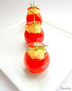 Ντοματούλες γεμιστές με τονοσαλάτα