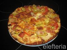 Πίτσα η γρήγορη (με παλιό ψωμί)
