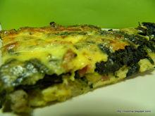Σπανακοτόσ�� φούρνου - spinach toast pie