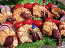 Baked garlic shrimps /  ψητές γαρίδες με σκόρδο