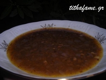 Φακές σούπα.