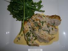 Ψαρονεφρι με σαλτσα μουσταρδας & σαλατα ροκα-καρδαμο