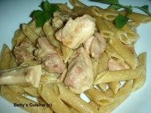 Κοτόπουλο με μπέϊκον και πένες ολικής αλέσεως