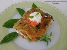 Mille-feuilles αρωματικής ομελέτας με κατίκι και ντομάτα... μεσογειακά καλοκαιρινό πιάτο