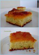 Σιμιγδαλένιο κέικ της ανατολικής μεσογείου με γλάσο χουρμάδων!