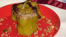 Πιπεριές γεμιστές με φαγόπυρο