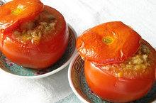 Ντομάτες γεμιστές με σουπιές
