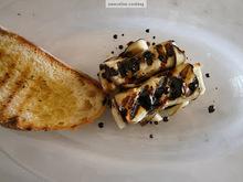 Ρολακια μελιτζανας με χαλουμι & σιροπι βαλσαμικου