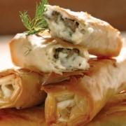 Μπουρεκάκια με μπεσαμέλ και μανιτάρια