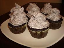 Vegan cream&cookies cupcakes