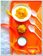 Eλαφριά πανακότα με σάλτσα μάνγκο