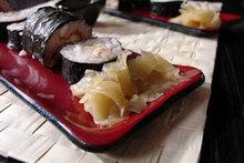 Salmon & crabmeat rolls