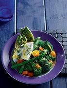 Βραστά λαχανικά με ανθότυρο και μυρωδικά