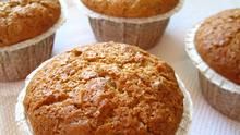 Muffin με ταχίνι και ξηρούς καρπούς