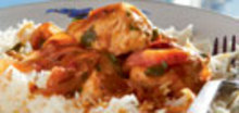 Κοτόπουλο με πράσινες πιπεριές και ρύζι