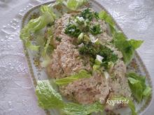 Υγιεινή τοννοσαλάτα σάντουιτς και μαρουλοσαλάτα με τόννο